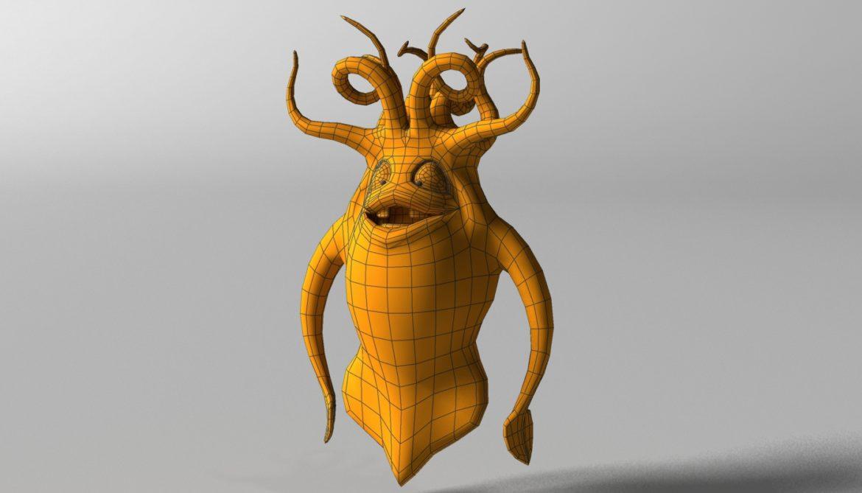 cartoon squid monster rigged 3d model 3ds max fbx  obj 311771