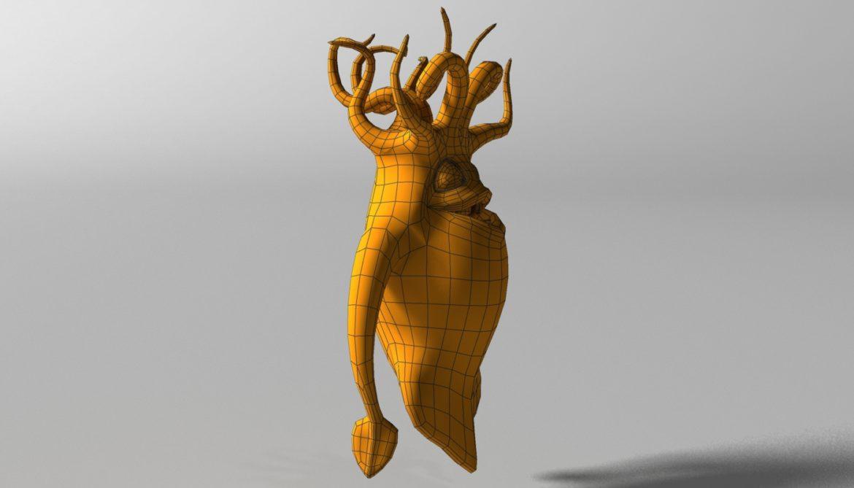 cartoon squid monster rigged 3d model 3ds max fbx  obj 311772
