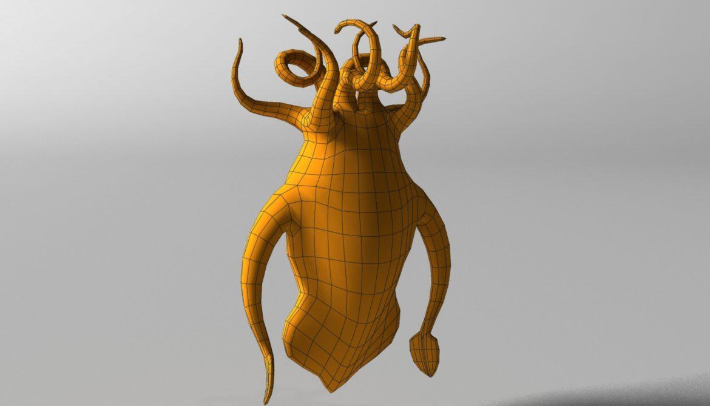 cartoon squid monster rigged 3d model 3ds max fbx  obj 311773