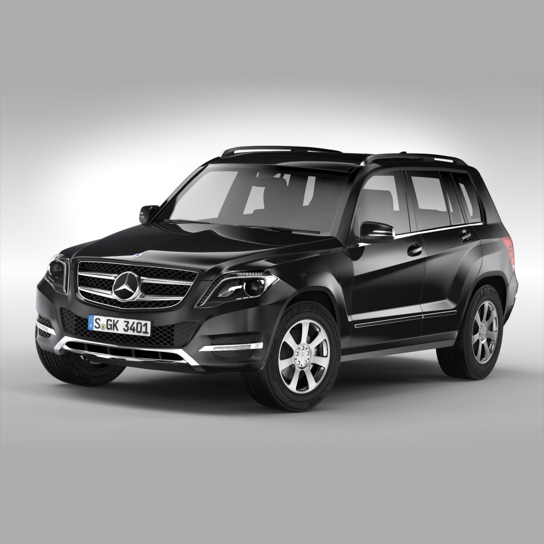 Mercedes Benz glk class (2012 - 2015) 3d líkan 3ds max fbx blanda c4d ma mb skp obj 311820