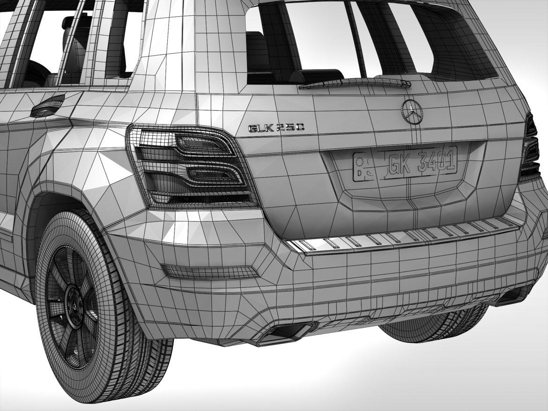 Mercedes Benz glk class (2012 - 2015) 3d líkan 3ds max fbx blanda c4d ma mb skp obj 311845