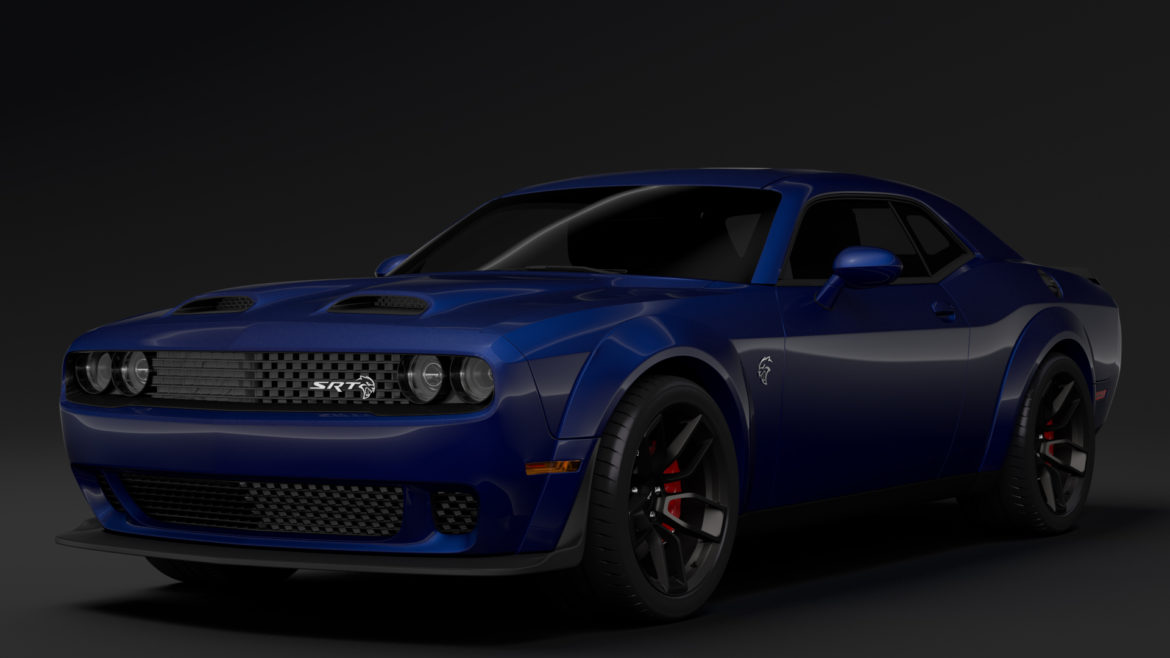 dodge challenger srt hellcat widebody lc 2019 3d model 3ds max fbx c4d lwo ma mb hrc xsi obj 311869