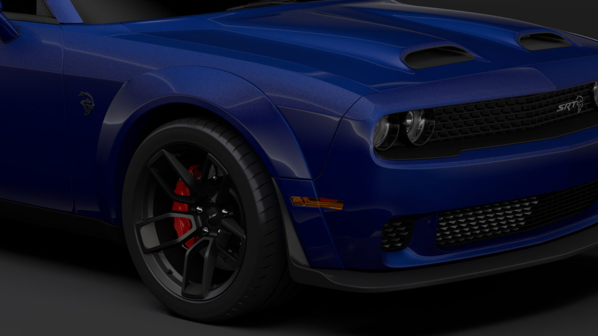 dodge challenger srt hellcat widebody lc 2019 3d model 3ds max fbx c4d lwo ma mb hrc xsi obj 311871