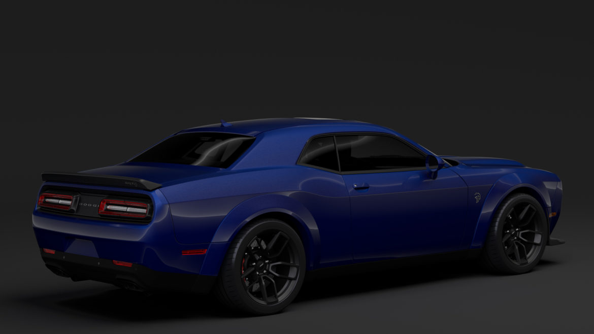 dodge challenger srt hellcat widebody lc 2019 3d model 3ds max fbx c4d lwo ma mb hrc xsi obj 311874