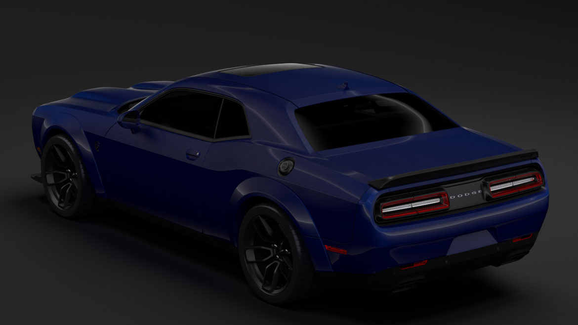 dodge challenger srt hellcat widebody lc 2019 3d model 3ds max fbx c4d lwo ma mb hrc xsi obj 311875
