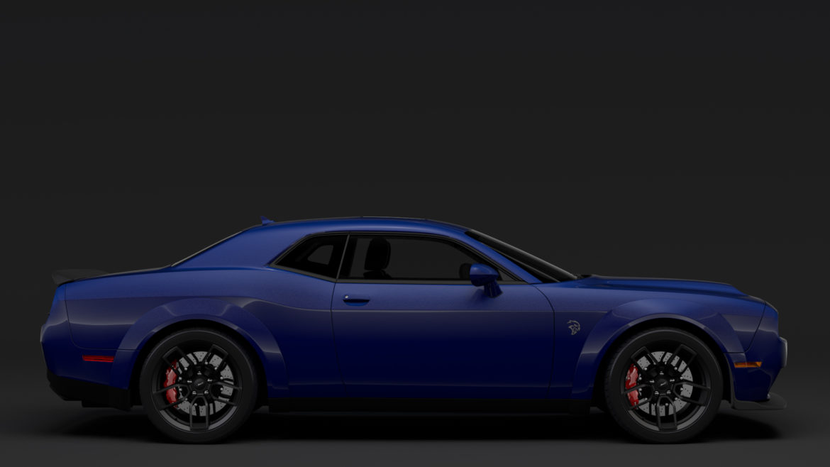 dodge challenger srt hellcat widebody lc 2019 3d model 3ds max fbx c4d lwo ma mb hrc xsi obj 311876