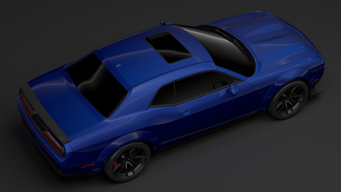 dodge challenger srt hellcat widebody lc 2019 3d model 3ds max fbx c4d lwo ma mb hrc xsi obj 311879