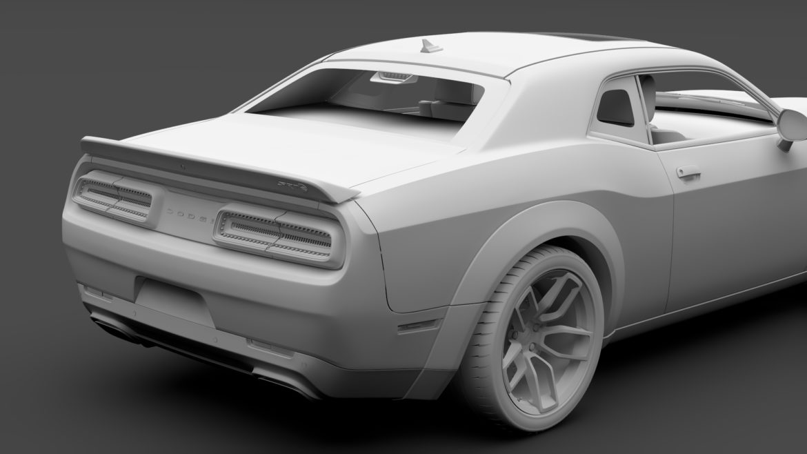 dodge challenger srt hellcat widebody lc 2019 3d model 3ds max fbx c4d lwo ma mb hrc xsi obj 311880