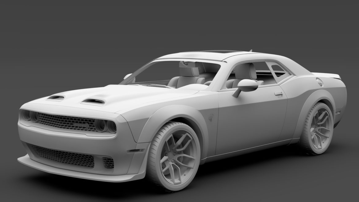 dodge challenger srt hellcat widebody lc 2019 3d model 3ds max fbx c4d lwo ma mb hrc xsi obj 311883