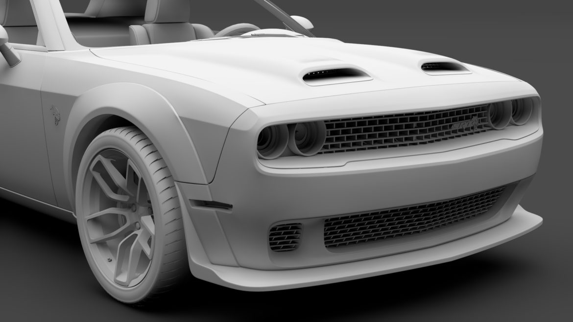 dodge challenger srt hellcat widebody lc 2019 3d model 3ds max fbx c4d lwo ma mb hrc xsi obj 311884