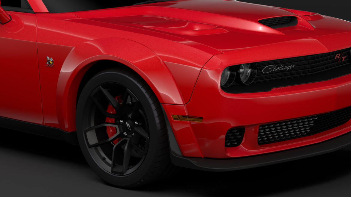 dodge challenger rt scat pack widebody lc 2019 3d model 3ds max fbx c4d lwo ma mb hrc xsi obj 311939