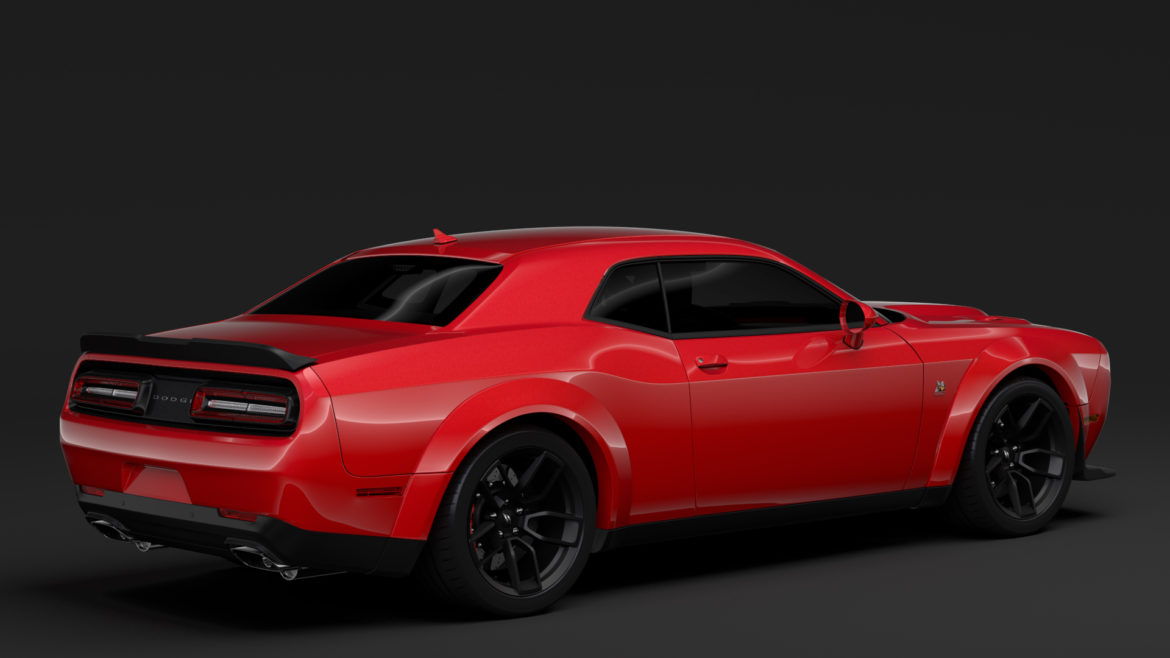 dodge challenger rt scat pack widebody lc 2019 3d model 3ds max fbx c4d lwo ma mb hrc xsi obj 311942