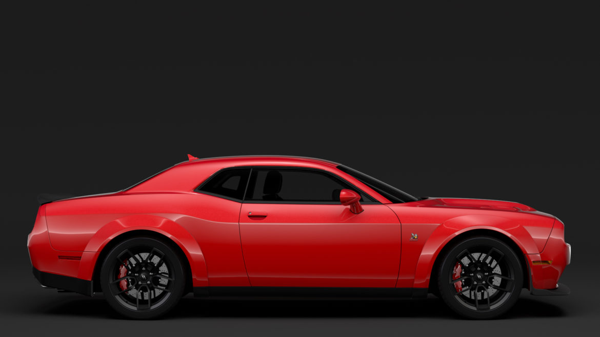 dodge challenger rt scat pack widebody lc 2019 3d model 3ds max fbx c4d lwo ma mb hrc xsi obj 311944