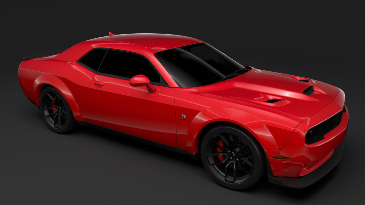 dodge challenger rt scat pack widebody lc 2019 3d model 3ds max fbx c4d lwo ma mb hrc xsi obj 311945
