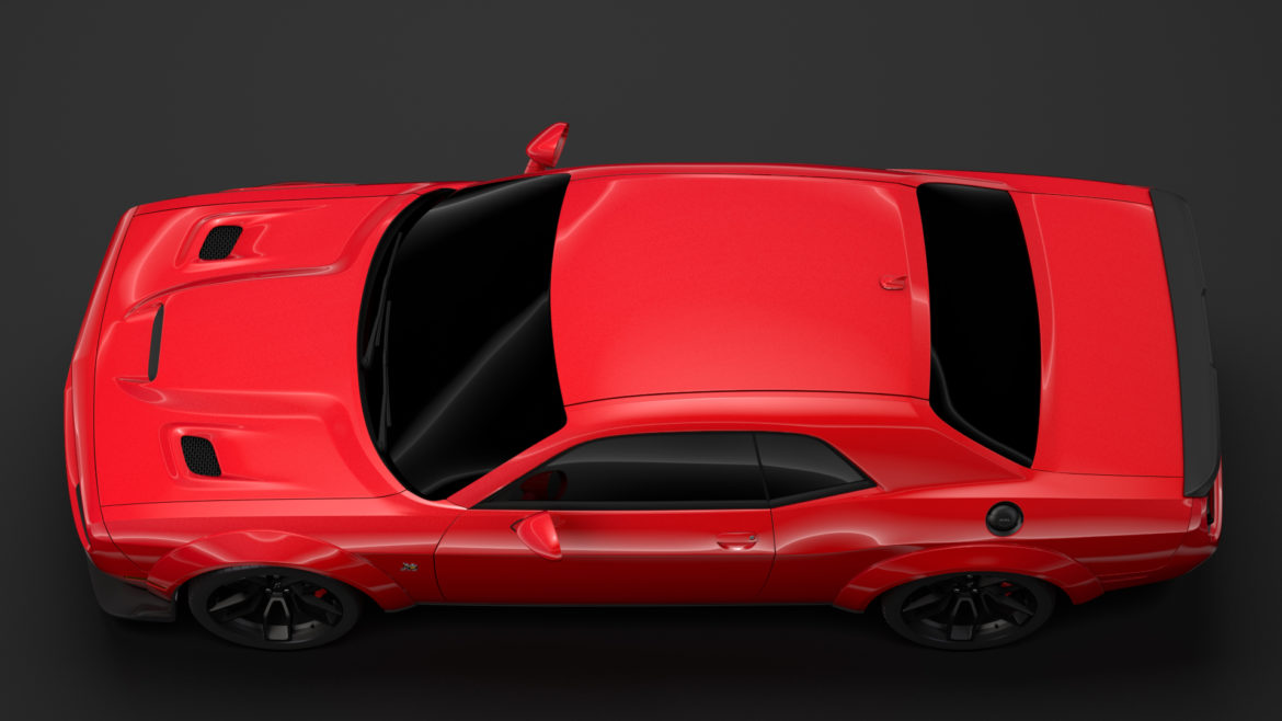 dodge challenger rt scat pack widebody lc 2019 3d model 3ds max fbx c4d lwo ma mb hrc xsi obj 311946
