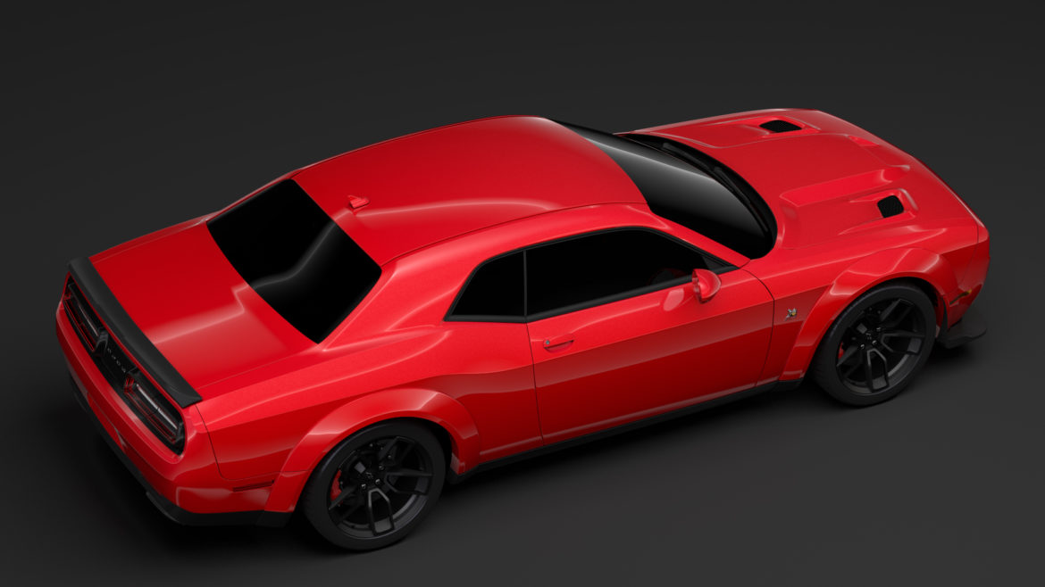dodge challenger rt scat pack widebody lc 2019 3d model 3ds max fbx c4d lwo ma mb hrc xsi obj 311947
