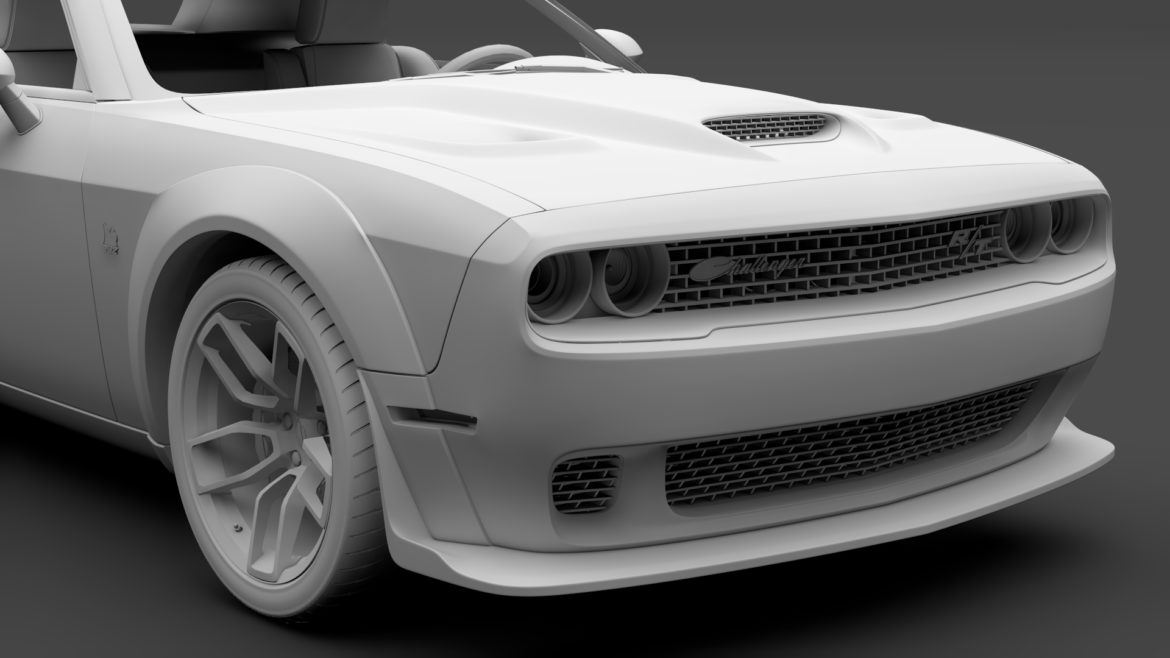 dodge challenger rt scat pack widebody lc 2019 3d model 3ds max fbx c4d lwo ma mb hrc xsi obj 311949