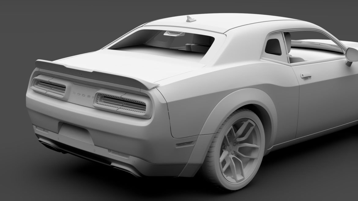 dodge challenger rt scat pack widebody lc 2019 3d model 3ds max fbx c4d lwo ma mb hrc xsi obj 311950