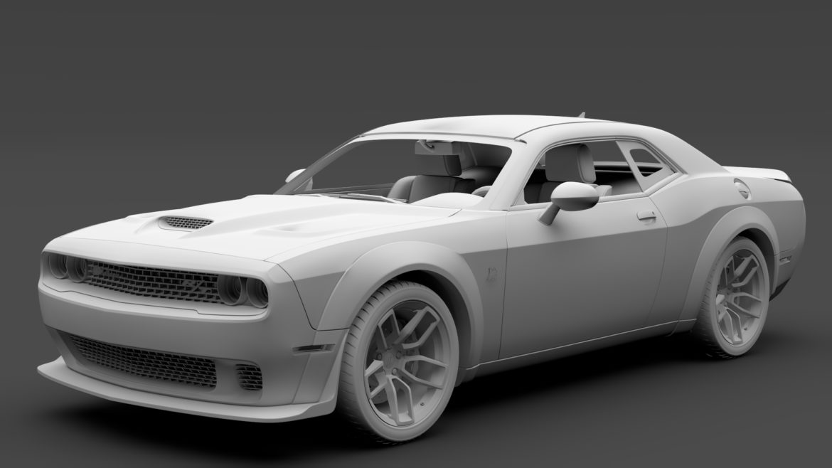 dodge challenger rt scat pack widebody lc 2019 3d model 3ds max fbx c4d lwo ma mb hrc xsi obj 311952