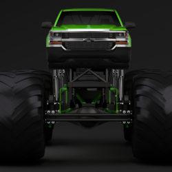 monster truck chevrolet silverado 3d model 3ds max fbx c4d lwo ma mb hrc xsi obj 312038