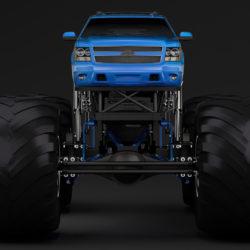 monster truck chevrolet suburban 3d model 3ds max fbx c4d lwo ma mb hrc xsi obj 312072