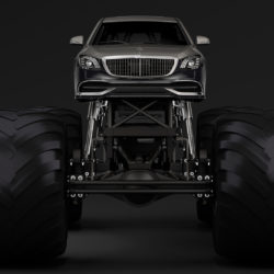 monster truck mercedes maybach s 650 pullman 3d model 3ds max fbx c4d lwo ma mb hrc xsi obj 312105