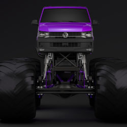monster truck vw transporter 3d model 3ds max fbx c4d lwo ma mb hrc xsi obj 312177