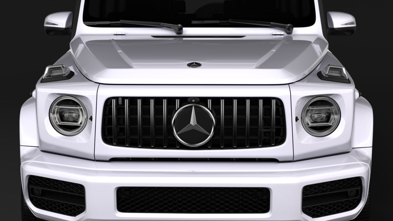 mercedes amg g 63 w463 2019 limousine 3d model 3ds max fbx c4d lwo ma mb hrc xsi obj 312407