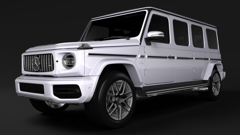 mercedes amg g 63 w463 2019 limousine 3d model 3ds max fbx c4d lwo ma mb hrc xsi obj 312408