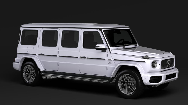 mercedes amg g 63 w463 2019 limousine 3d model 3ds max fbx c4d lwo ma mb hrc xsi obj 312409