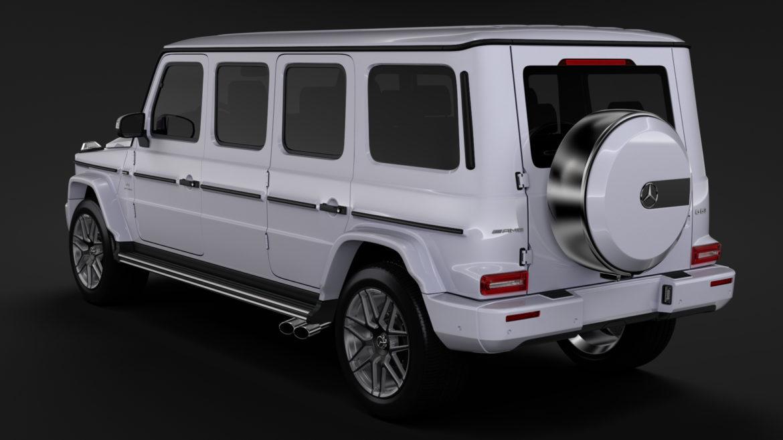 mercedes amg g 63 w463 2019 limousine 3d model 3ds max fbx c4d lwo ma mb hrc xsi obj 312413