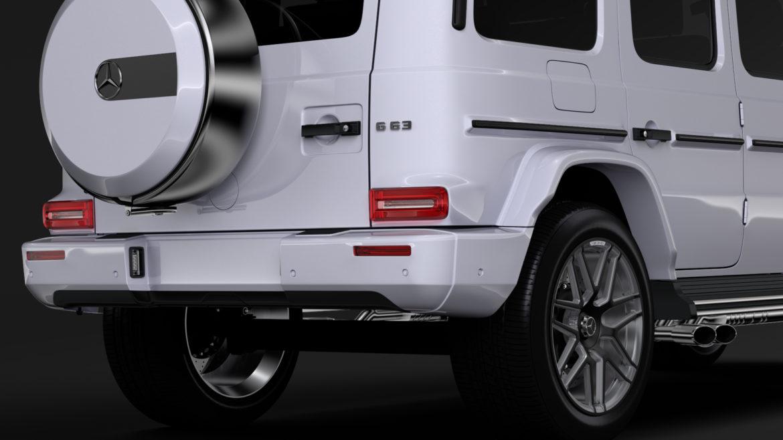 mercedes amg g 63 w463 2019 limousine 3d model 3ds max fbx c4d lwo ma mb hrc xsi obj 312414