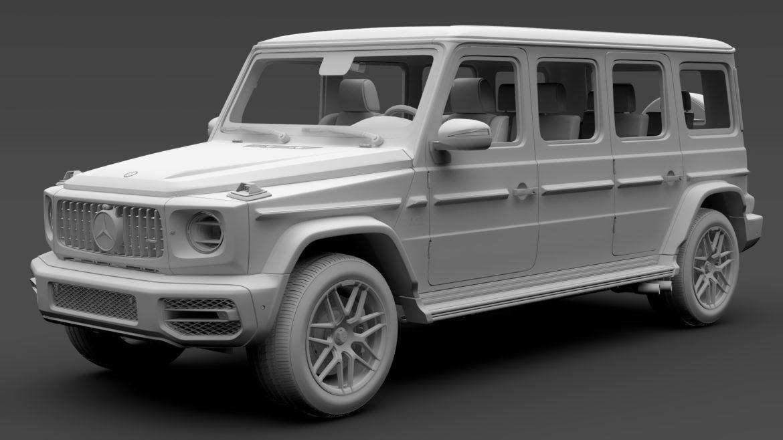 mercedes amg g 63 w463 2019 limousine 3d model 3ds max fbx c4d lwo ma mb hrc xsi obj 312420