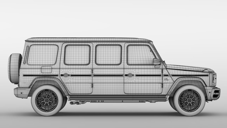mercedes amg g 63 w463 2019 limousine 3d model 3ds max fbx c4d lwo ma mb hrc xsi obj 312424