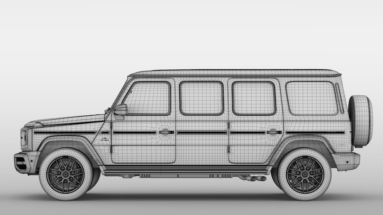 mercedes amg g 63 w463 2019 limousine 3d model 3ds max fbx c4d lwo ma mb hrc xsi obj 312426