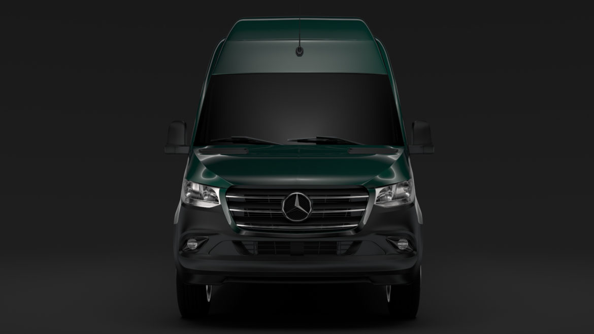 mercedes benz sprinter panel van l3h3 rwd 2019 3d model 3ds max fbx c4d lwo ma mb hrc xsi obj 312938