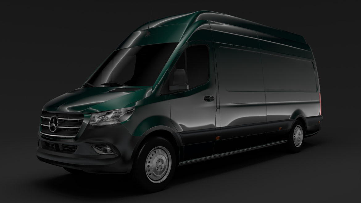 mercedes benz sprinter panel van l3h3 rwd 2019 3d model 3ds max fbx c4d lwo ma mb hrc xsi obj 312939