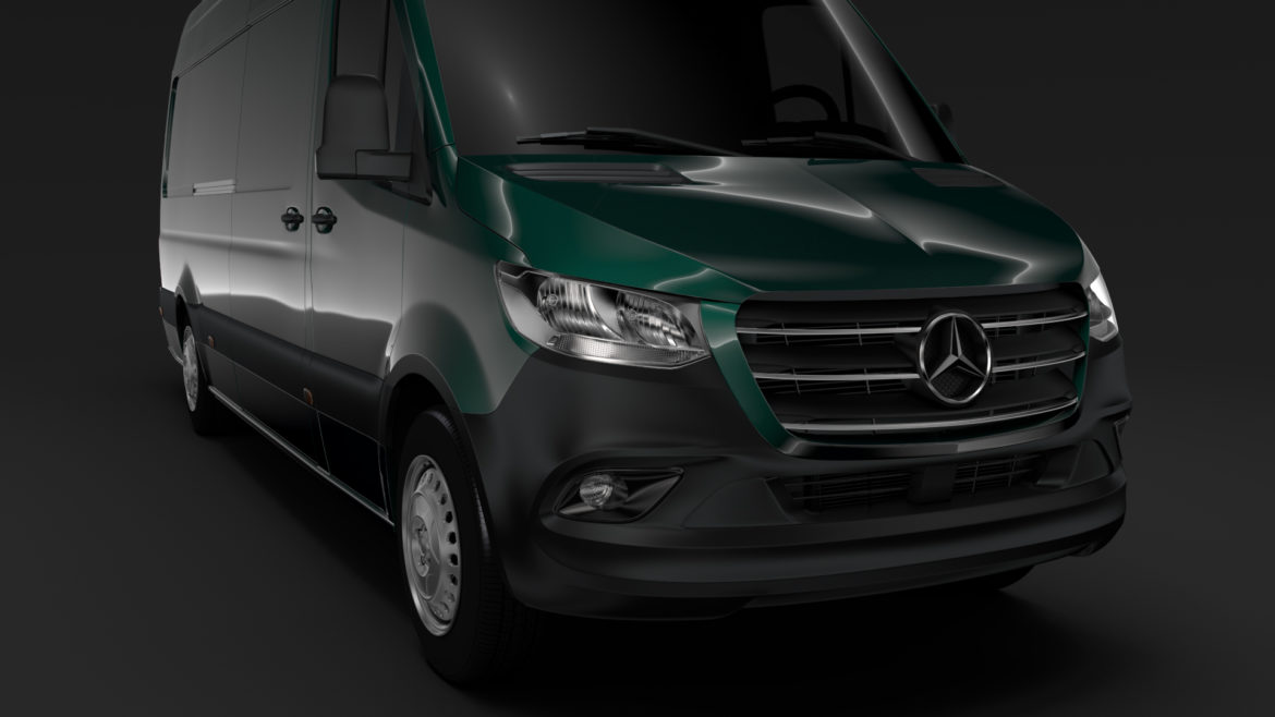 mercedes benz sprinter panel van l3h3 rwd 2019 3d model 3ds max fbx c4d lwo ma mb hrc xsi obj 312941