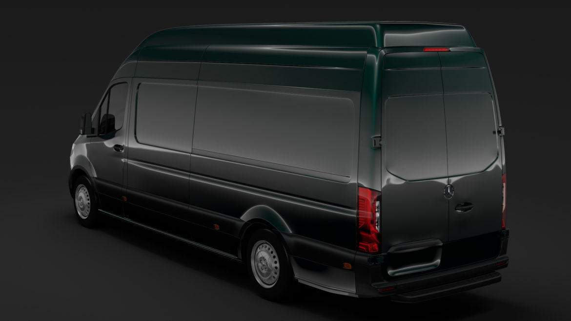 mercedes benz sprinter panel van l3h3 rwd 2019 3d model 3ds max fbx c4d lwo ma mb hrc xsi obj 312943