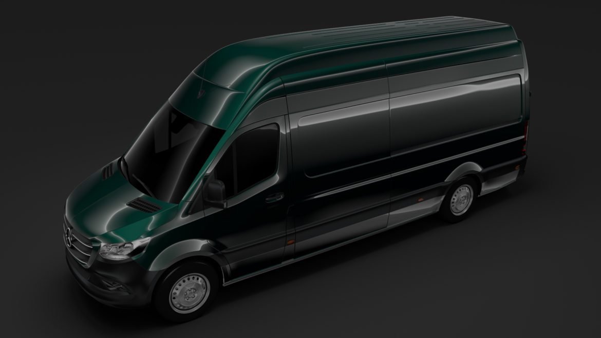 mercedes benz sprinter panel van l3h3 rwd 2019 3d model 3ds max fbx c4d lwo ma mb hrc xsi obj 312946