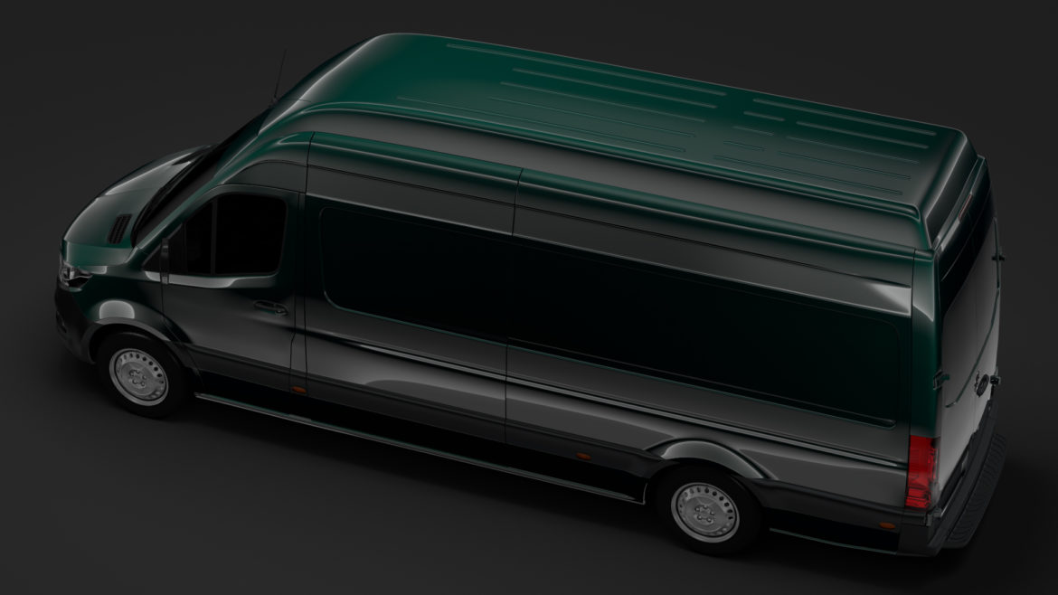 mercedes benz sprinter panel van l3h3 rwd 2019 3d model 3ds max fbx c4d lwo ma mb hrc xsi obj 312947