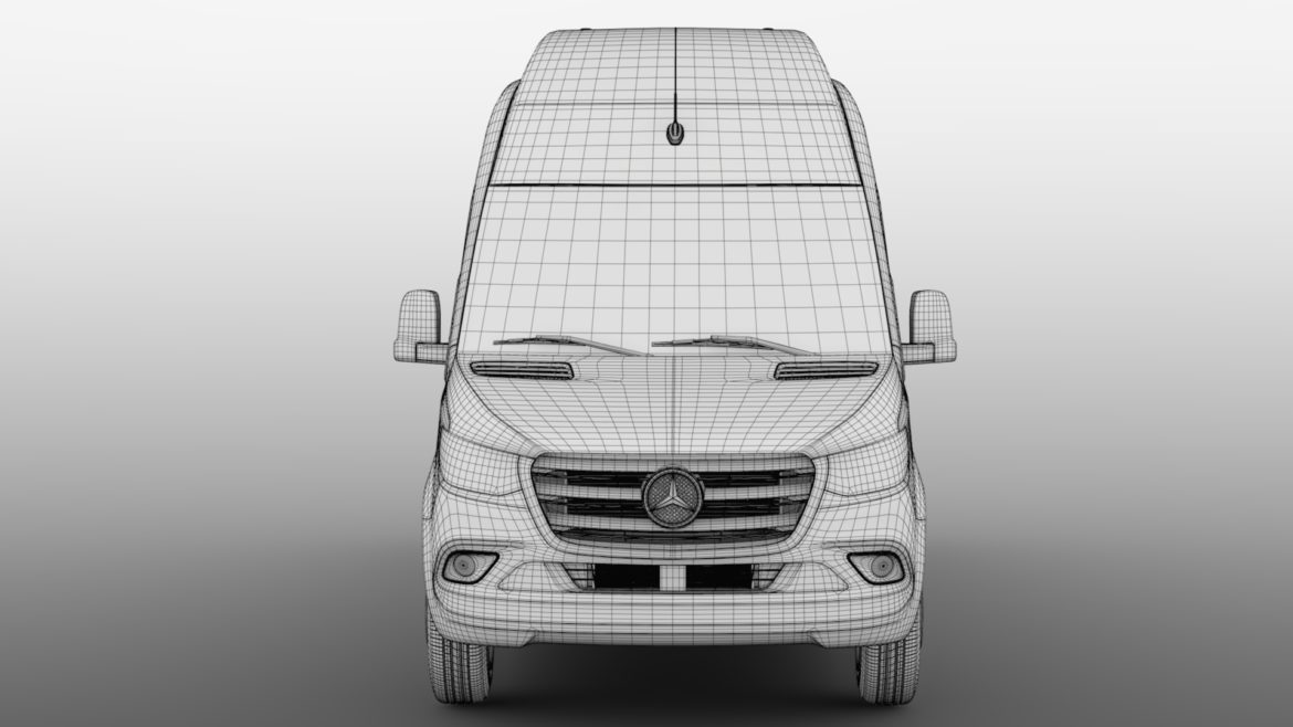 mercedes benz sprinter panel van l3h3 rwd 2019 3d model 3ds max fbx c4d lwo ma mb hrc xsi obj 312948