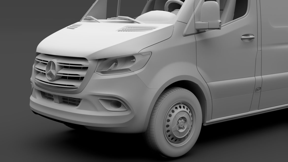 mercedes benz sprinter panel van l3h3 rwd 2019 3d model 3ds max fbx c4d lwo ma mb hrc xsi obj 312949