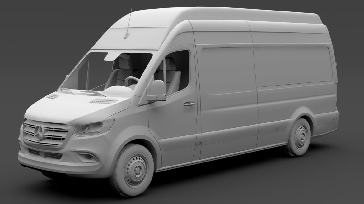 mercedes benz sprinter panel van l3h3 rwd 2019 3d model 3ds max fbx c4d lwo ma mb hrc xsi obj 312953