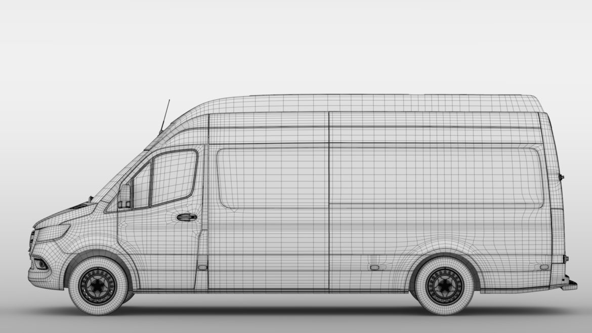 mercedes benz sprinter panel van l3h3 rwd 2019 3d model 3ds max fbx c4d lwo ma mb hrc xsi obj 312955