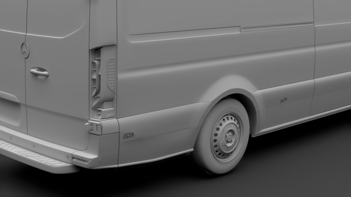 mercedes benz sprinter panel van l3h3 rwd 2019 3d model 3ds max fbx c4d lwo ma mb hrc xsi obj 312956
