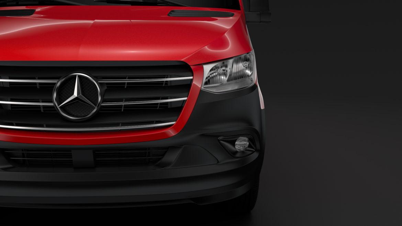 Mercedes Sprinter Panel Van L2H1 FWD 2019 model 3D 3DS MAX FBX C4D LWO MA MB HRC XSI OB 312968