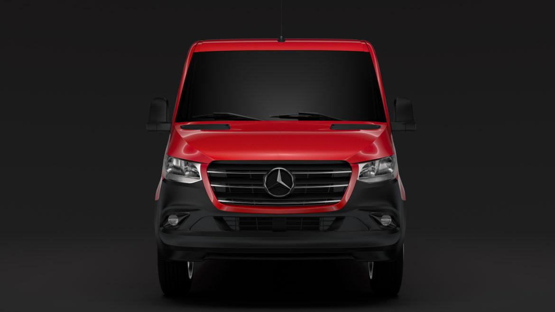Mercedes Sprinter Panel Van L2H1 FWD 2019 model 3D 3DS MAX FBX C4D LWO MA MB HRC XSI OB 312969