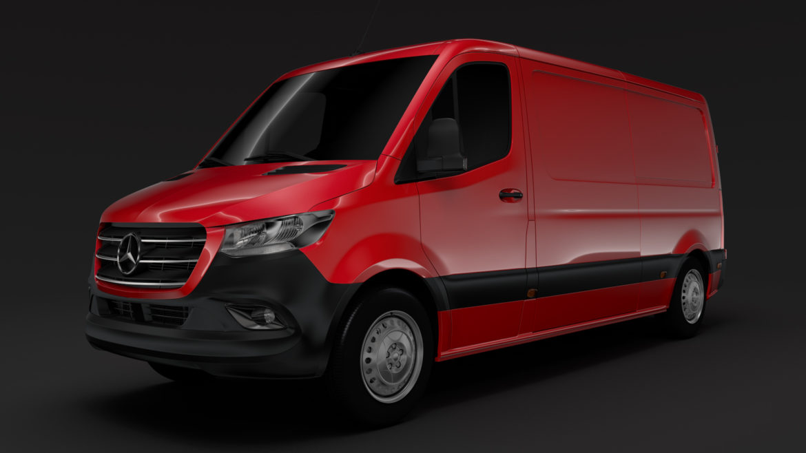 mercedes sprinter panel van l2h1 fwd 2019 3d model 3ds max fbx c4d lwo ma mb hrc xsi obj 312970