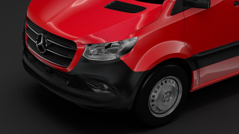Mercedes Sprinter Panel Van L2H1 FWD 2019 model 3D 3DS MAX FBX C4D LWO MA MB HRC XSI OB 312971